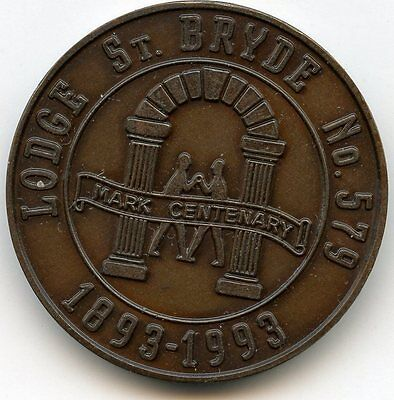 St Bryde   LODGE NUMBER 579 MASONIC  PENNY  TOKEN
