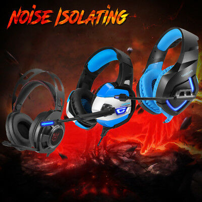 Wireless Bluetooth Gaming Headset Music Headphone Mic for PS4 Xbox 360 Mac PC US