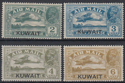 Kuwait 1933 ** Mi.27/30 Freimarken Definitives Flugzeuge Aircraft King George V