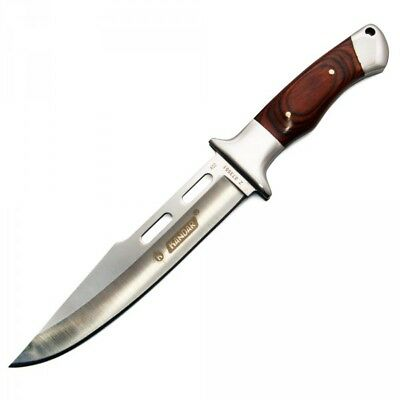 Messer Knife Hunting Military Survival Fixed Blace Wood Skinner Case Full Tang