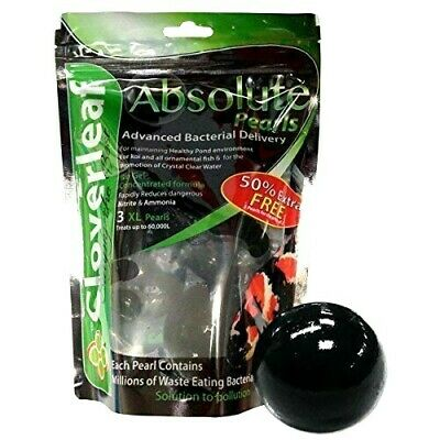 Cloverleaf Absolute Pearls Reduces Nitrate & Ammonia Clear Water Koi Fish Pond