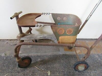 "Taylor Tot Stroller Baby Buggy  Vintage Mid Century Retro Groovy Org.Hub Caps""M"""