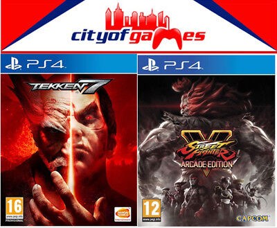 Tekken 7 & Street Fighter V 5 Arcade Edition Bundle PS4 Game New In Stock