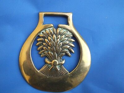 Antique Horse Brass - 19th c. Wheatsheaf horse brass (Ref. 1166)