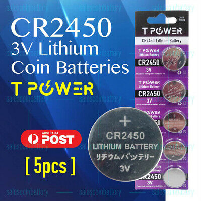 5x PKCELL CR2450 3V Cell Coin Lithium Button Battery Batteries Stock in Melbour