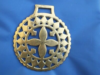 Antique Horse Brass - A Large 19th c. Flower horse brass (Ref. 754)