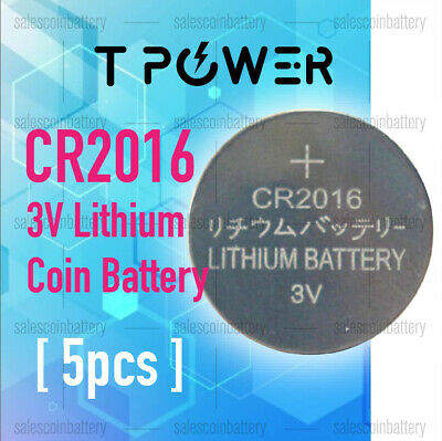 5x PKCELL CR2016 3V Cell Coin Lithium Button Battery Batteries Stock in Melbour