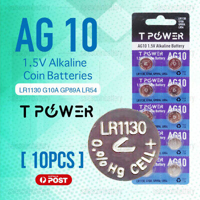 x10 Naccon AG10 1.5V Cell Coin Alkaline Button Battery Batteries Stock in Mel