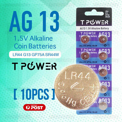 10x Naccon AG13 1.5V LR44 G13 GP76A Cell Coin Alkaline Button Battery Batteries