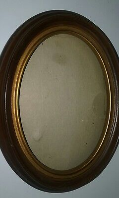 Vintage Oval Picture  Frame (Wood) 5 X 7