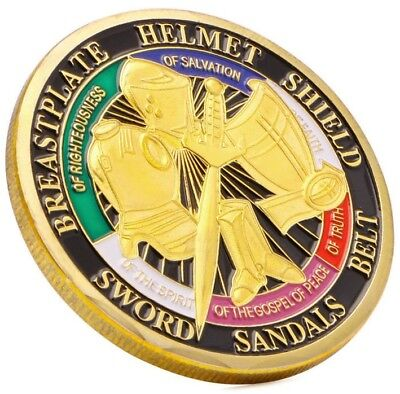 Put on the Whole Armor of God - Gold Plated - Commemorative Novelty Art Coin