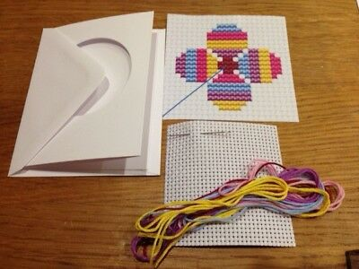 Children's Cross stitch kit - Flower