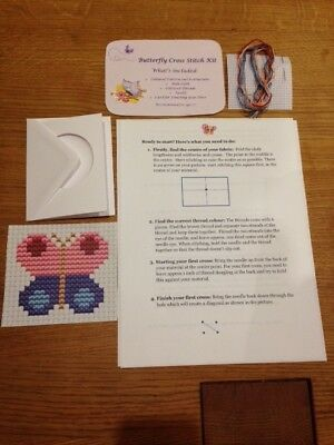 Children's Cross stitch kit - Butterfly