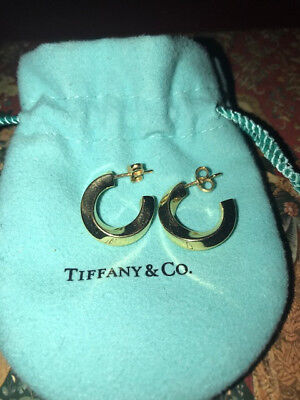Tiffany & Co. Gold Twist Collection Oval Earrings 18K Gold, Buy It Now price