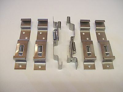 6 x Number Plate Clips Suit   Trailers ,Horse Box,Plant ,Boat.Quick change
