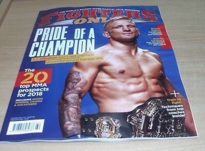 Fighters Only magazine #164 FEB 2018 TJ Dillashaw, Royce Gracie, Randy Couture &
