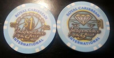 "Royal Caribbean  Cruise Lines $1  ""INDEPENDENCE OF THE SEAS"" Casino Poker Chip"