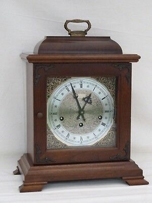 Hermle, Hamilton Walnut Triple 3 Tune Chimes Mantle Bracket Clock