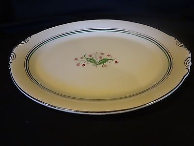 """Syracuse Old Ivory China - Coralbel - 16"""" Oval Serving Platter"""