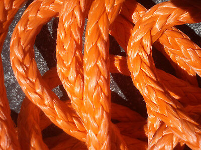 "97' of 9/16"" Orange AmSteel-Blue Made in USA 12 Strand Dyneema SK78 36,500lb"