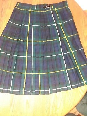 Vintage Edinburgh Scotland  Kilt  Wool Tartan Gift Shop  Plaid Pleated