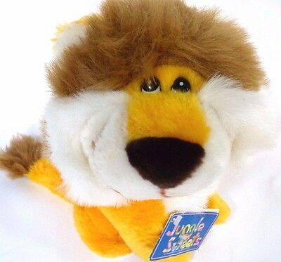 """Vintage 1980's Mighty Star Jungle Sweets 9"""" Lion Plush Stuffed Toy Animal w/ Tag"""