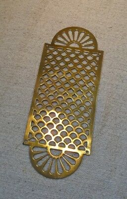 Antique vintage decorative ornate pierced brass grate grille door finger plate?