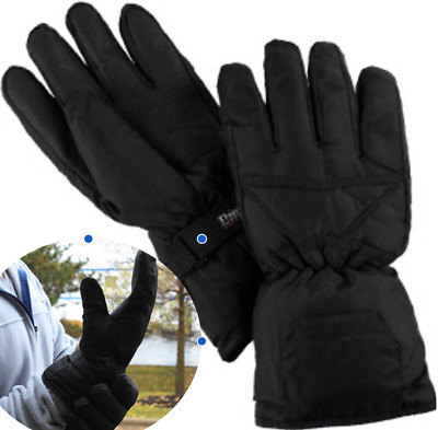 Battery Operated Heated Gloves LED Indicator Outdoor Winter Work Cold Warm Hands