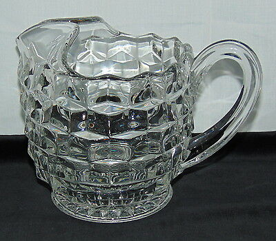 "Fostoria AMERICAN CRYSTAL *6 1/2""- 3 PINT FOOTED* FAT PITCHER* w/ICE LIP*"