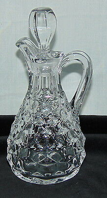 "Fostoria AMERICAN CRYSTAL *5 1/2"" OIL BOTTLE/ CRUET w/STOPPER*"