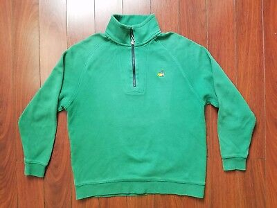 Masters collection Half zip pullover Youth L Green
