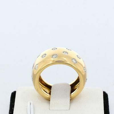 Wert 3.250,- Brillant 0,60 Carat Ring In 750 / 18 Karat Gelbgold Gr. 52 Sale