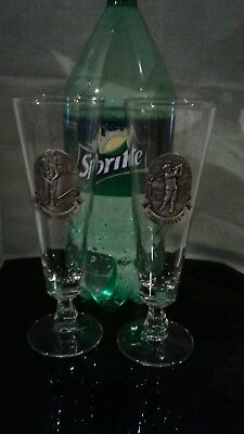 The Putt Golf Pewter and Glass Goblet &The Drive Pewter and Glass Golf Goblet