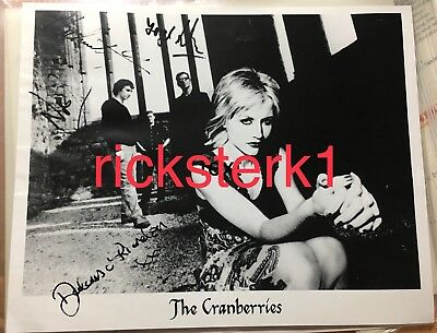 Dolores O'Riordan, Cranberries, May 2001 Band Signed Promo Photo & Letter / Fan