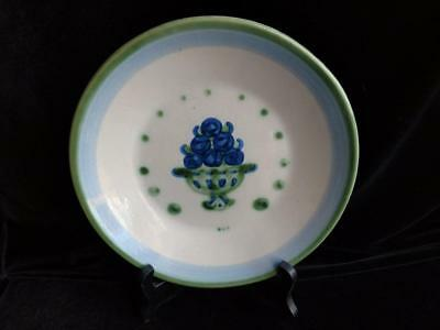 M.A. Hadley Hand Painted Country Blueberry Plate 9 inch - SIGNED