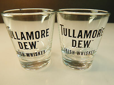 Tullamore Dew Irish Whiskey Shot Glass Set of 2 1oz