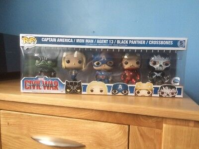 Funko PoP Captain America Civil War 5 Pack Disney Exclusive