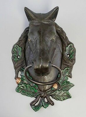 Cast Iron Towel Holder Horse Head Brown NEW 9937905