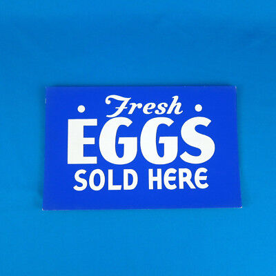 "Original VTG 1950s ""Fresh Eggs Sold Here"" Sign Silkscreen store display grocery"