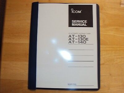 ICOM antenna tuner automatic AT-130 AT-130E AT-140 service manual  copy