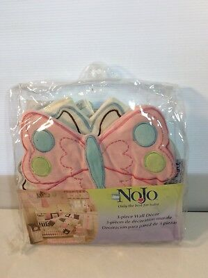 NoJo 3 Piece Wall Decor New Ladybug Lullabye Butterfly, Flower Ladybug