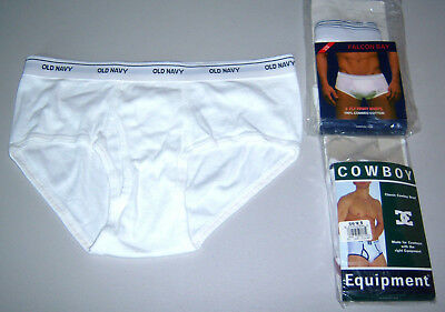 Lot Of 3 Somewhat Rare Large Mens Briefs~Cowboy Equipment, Falcon Bay, Old Navy