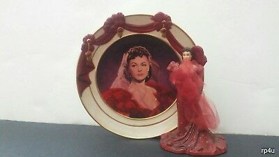 Scarlett Flame Reflections of Scarlett  Plate Gone With the Wind Porcelain 2001