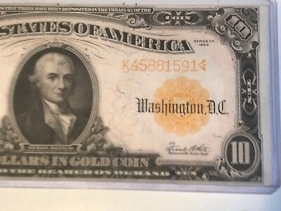 HGR 1922 $10 Gold Certificate ((RARE Grade)) Near UNCIRCULATED