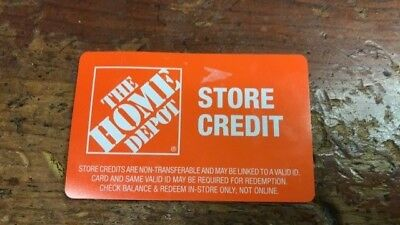Home Depot Store Credit $129.00 ''may be require ID'' read description