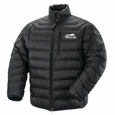 Arctic Cat Men's Windproof Nylon Puffy Aircat Down Coat - Black - 5260-914 Large