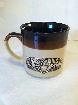 Vintage 1986 Hardee's Rise & Shine Homemade Biscuits Mug Coffee Cup FREE SHIPPIN