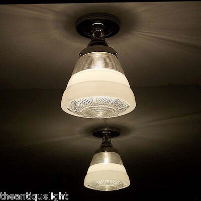 120 Vintage  Ceiling Light Lamp Fixture Re-Wired bath hall porch kitchen 1 of 3