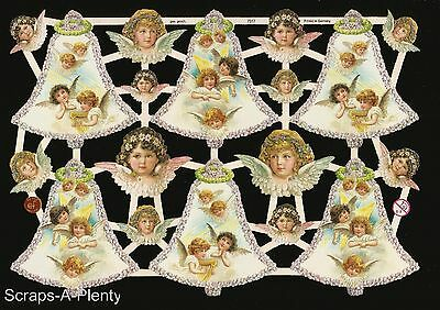 German Vintage Style Scrap Die Cut - Precious Christmas Easter Angels   EF7317