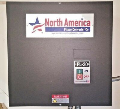 Phase Converter, Rotary, 30 HP, North America Phase Converter Model PL-30